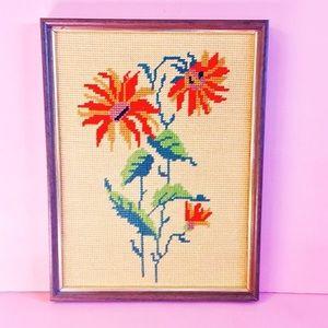 1970s Flower cross stitch